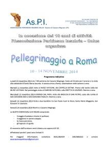 pellegrinaggio Roma novembre 2014